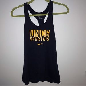 Nike dri-fit UNCG collegiate wear tank top